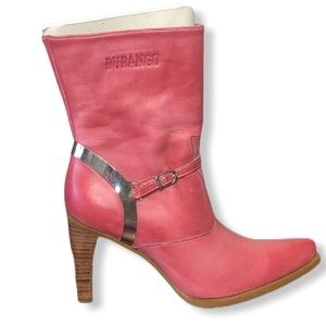 Durango Pink Boots High Heel Leather Cowboy Boots
